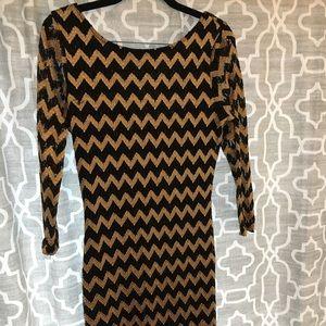 Chevron beaded dress